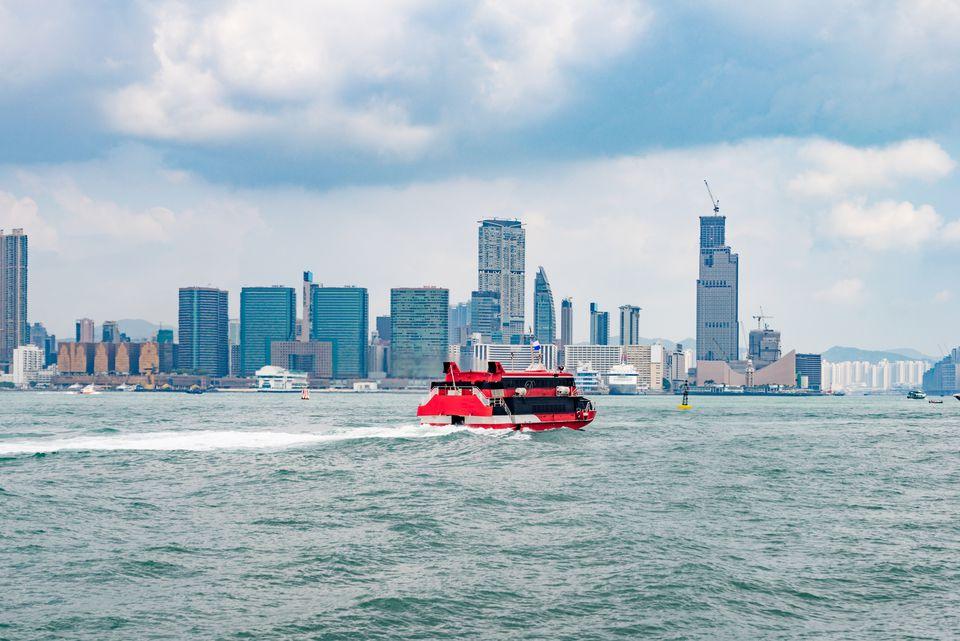 view of victoria harbor