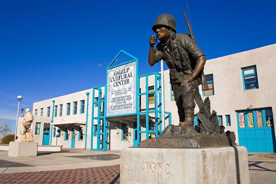Navajo Code Talker Monument, Gallup Cultural Center.