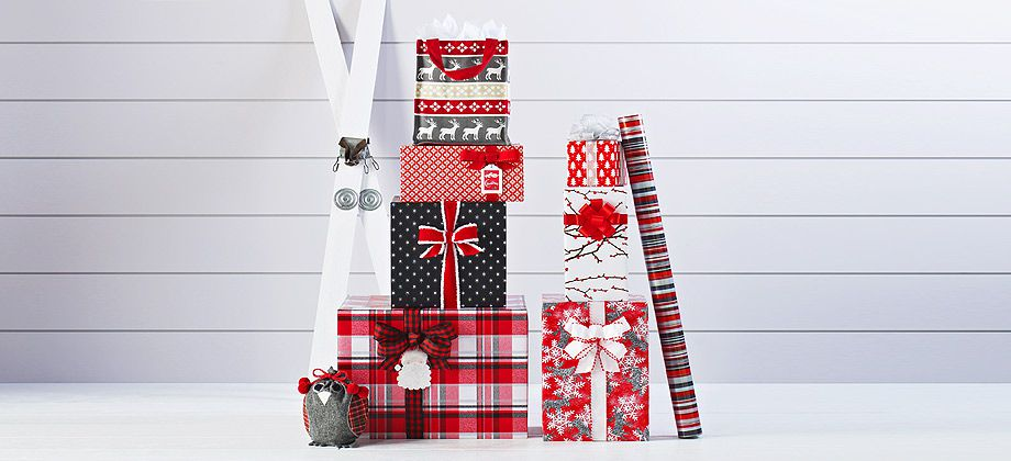Cool Yule Gift Wrap Collection from the Container Store