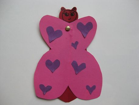 Homemade Butterfly Valentine to Make with Kids