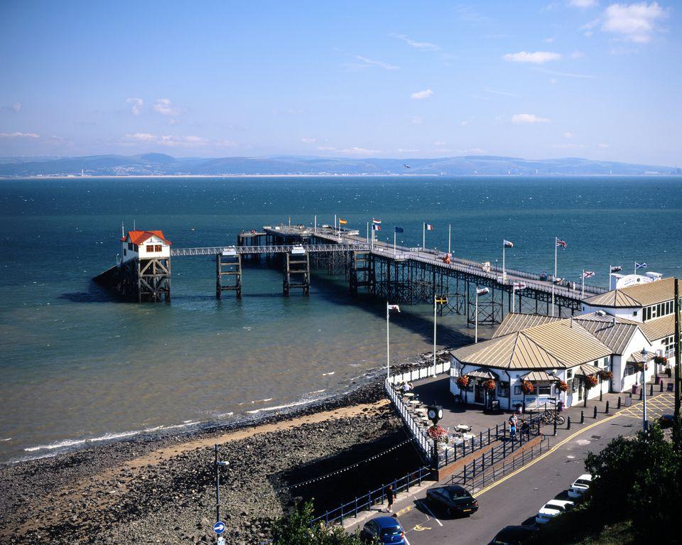 Mumbles Pier, Swansea bay, Swansea, S. Wales