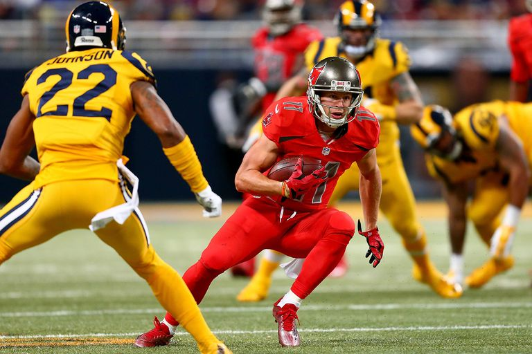 Tampa Bay Buccaneers playing the St. Louis Rams