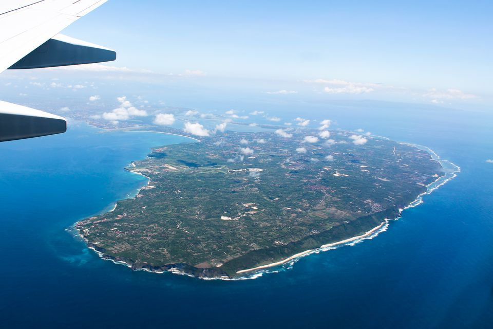 Flying into Bali