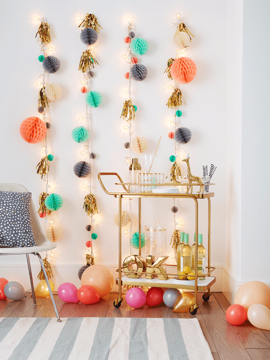 DIY Honeycomb Christmas Lights