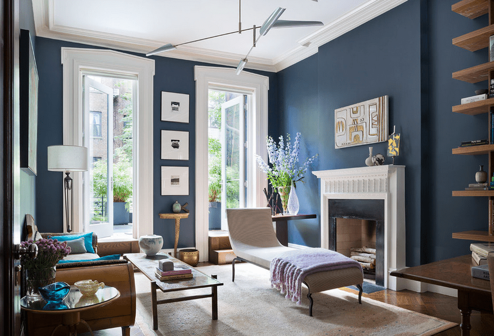 contemporary blue living room dineen architecture design - Blue Color Living Room Designs