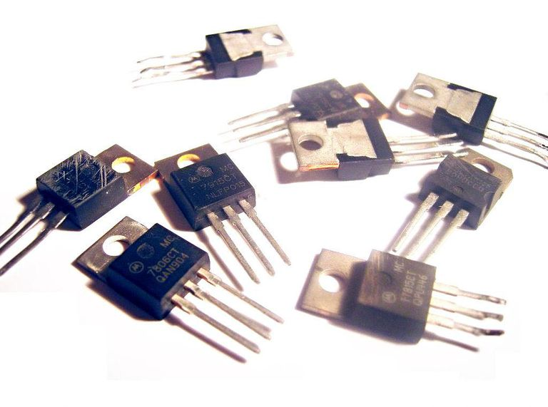 An assortment of 78xx series ICs