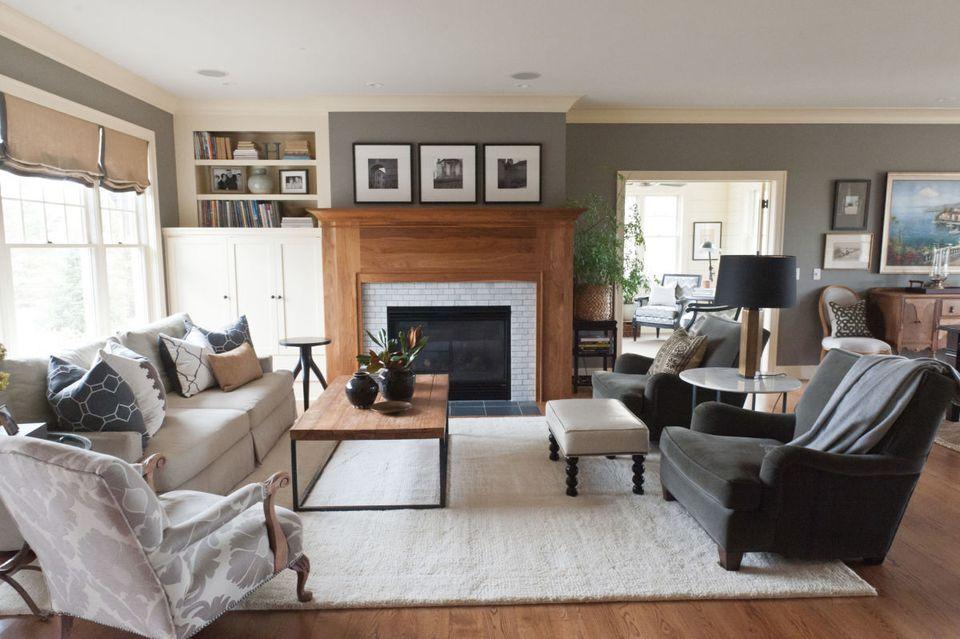 Cozy gray living room