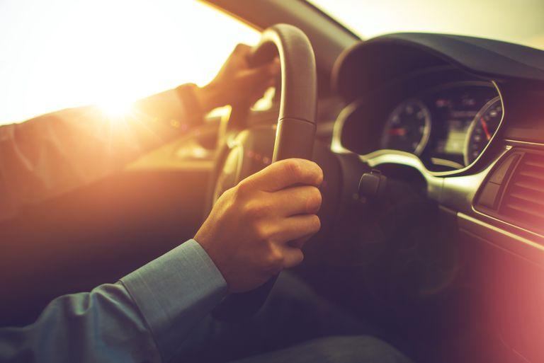 Close-Up of Man Driving