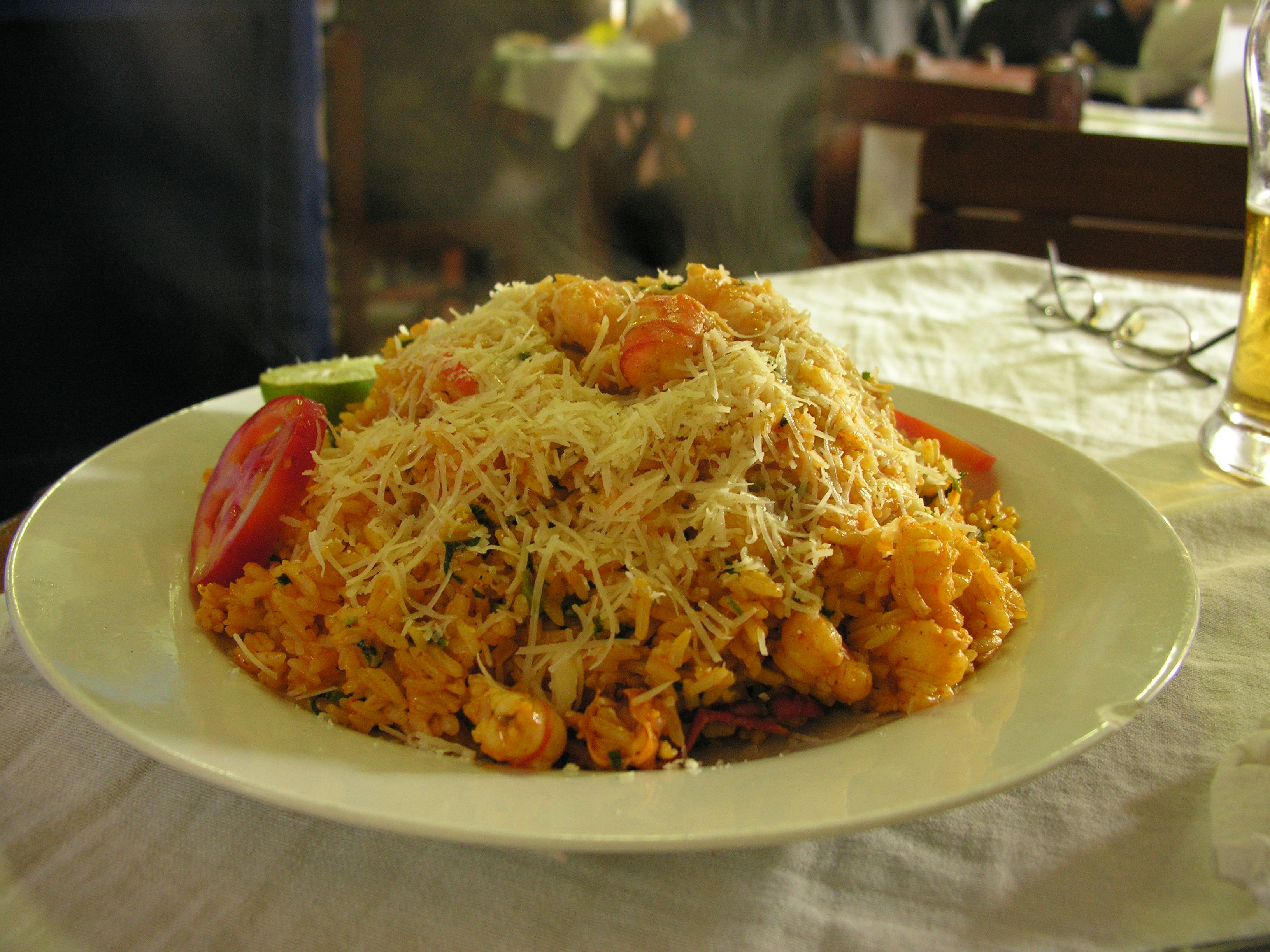Recipe for Shrimp Paella, Peruvian Style