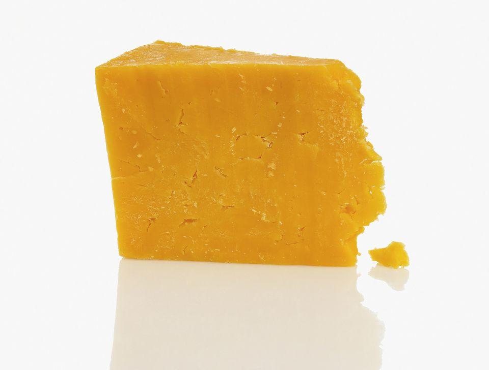 A Wedge of Orange Cheddar