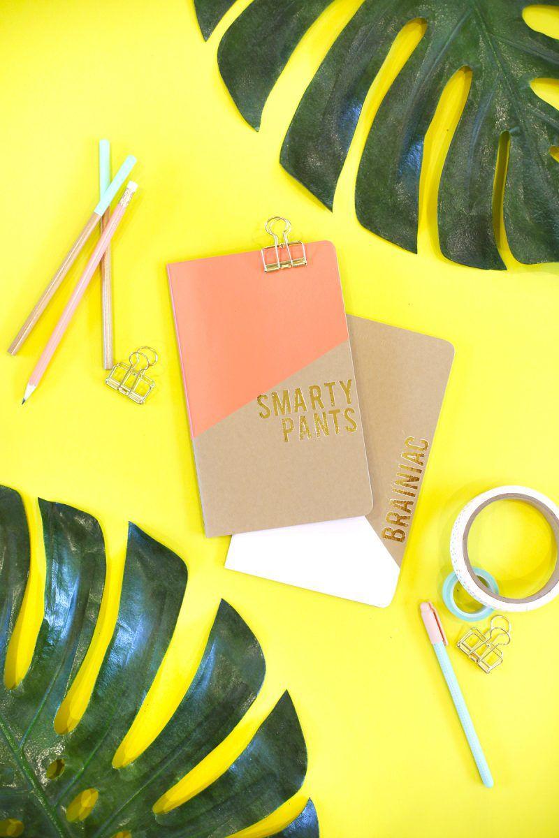 DIY Gold Foil Notebook