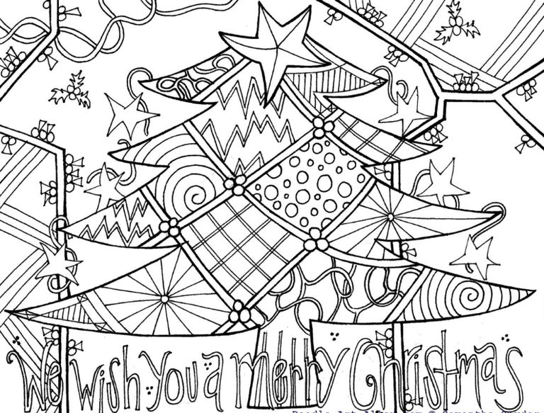 christmas art coloring pages - photo#7