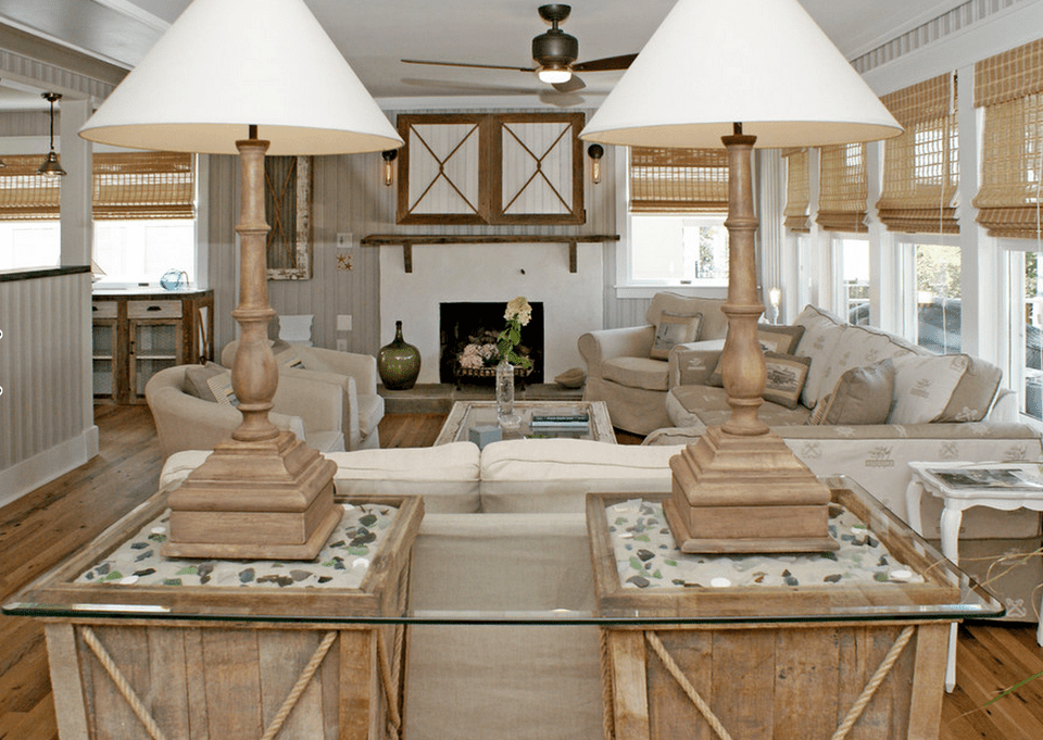 20 beautiful beach house living room ideas for Beach cottage style living room furniture