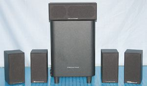 Cerwin Vega CMX 5.1 Home Theater Speaker System - Photo of Front View - Grills On
