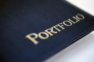 leather-bound portfolio