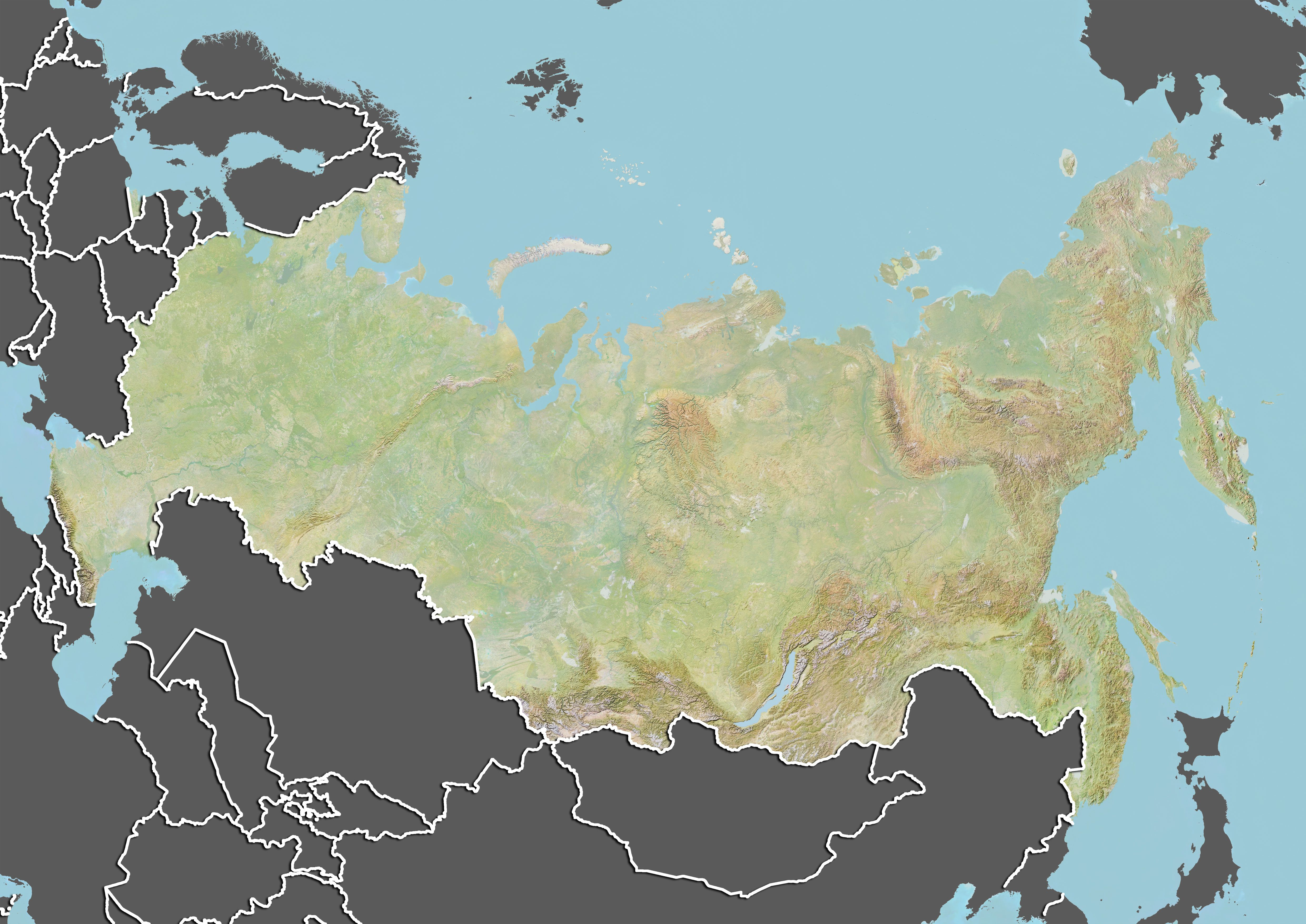 Neighboring Countries In Geography - Russia map and surrounding countries