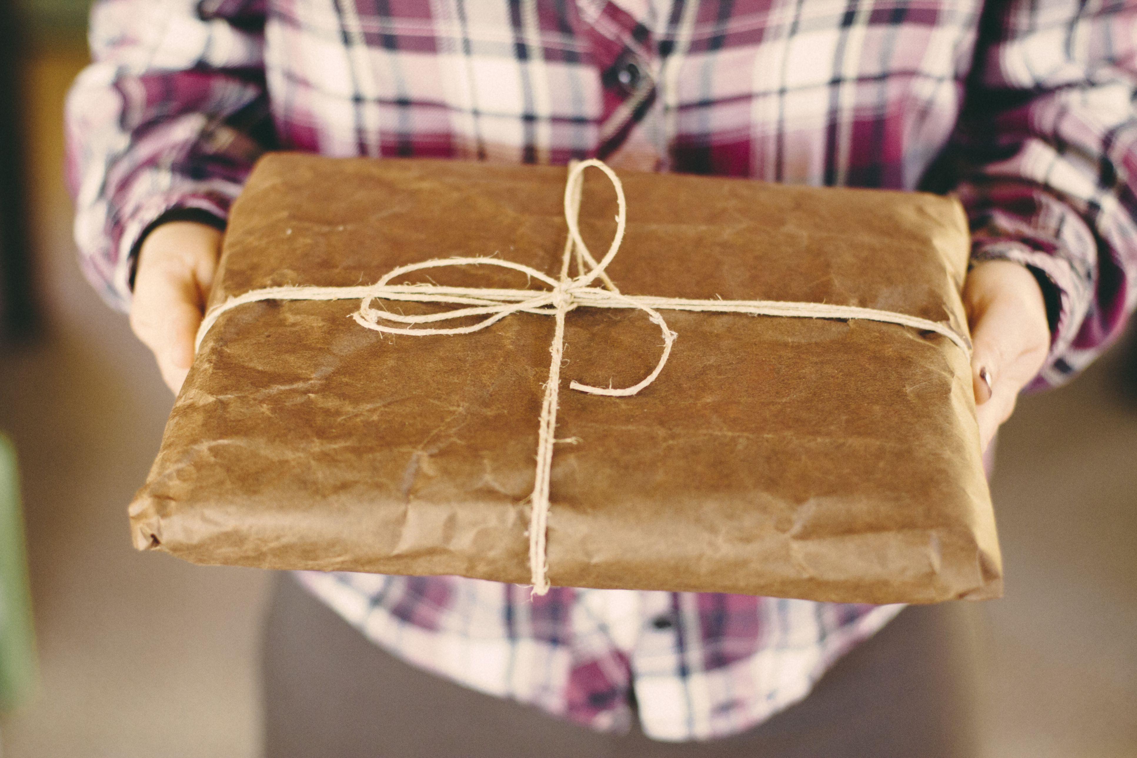 Before you buy gifts for your spiritual minded friends gift wrapped in brown paper negle Images