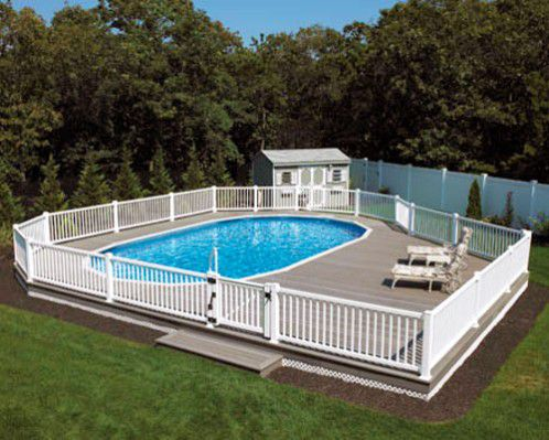 Rectangle Above Ground Pool above-ground swimming pools - designs, shapes and sizes