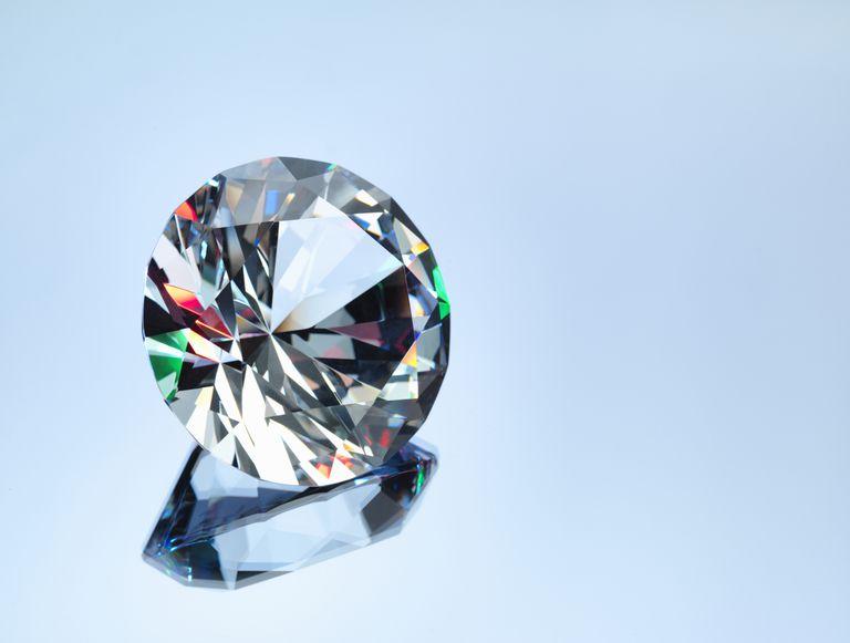 Fiery diamond close-up