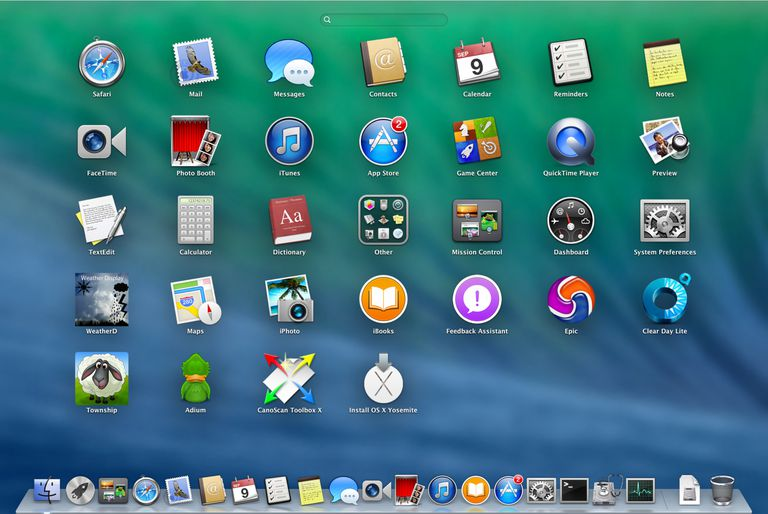 OS X Mavericks Launchpad