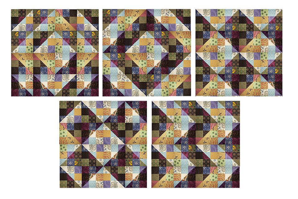 Nine Patch Straight Furrows Quilt Pattern
