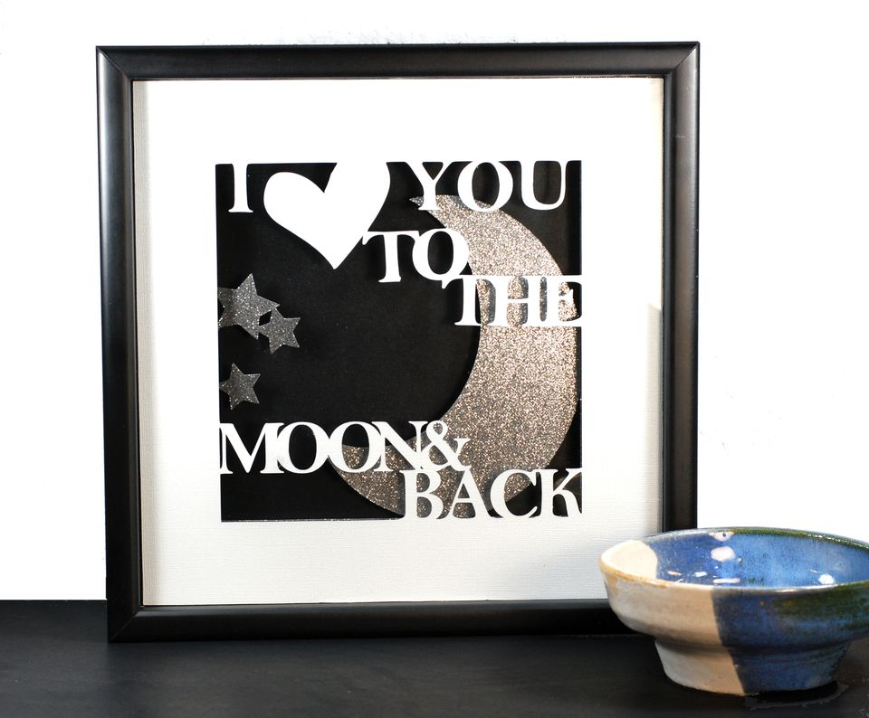 Layered Shadow box paper craft project
