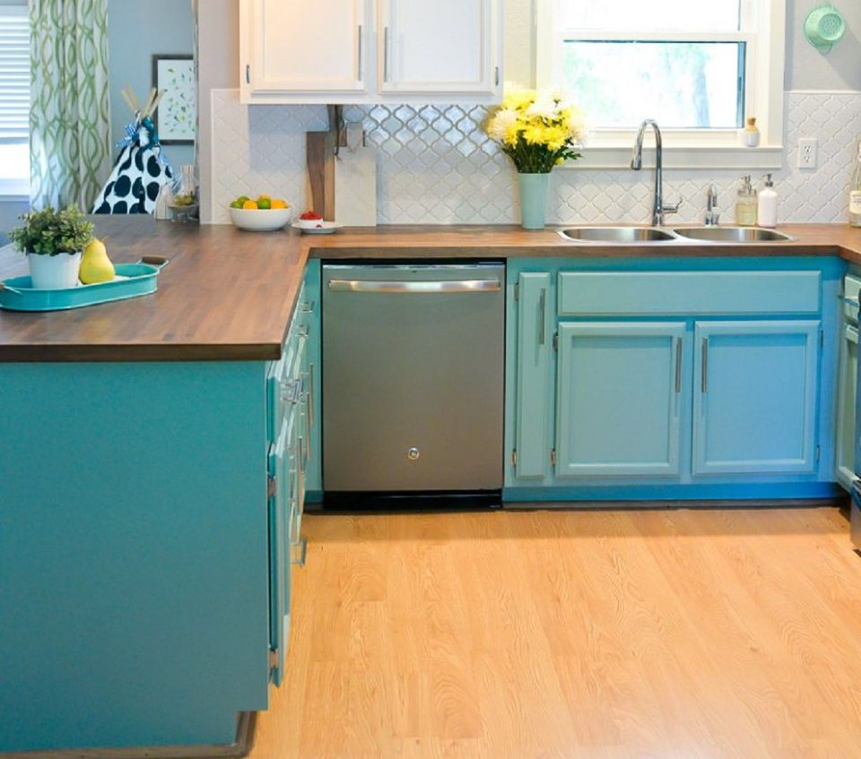cabinets for small kitchens designs. Blue Painted Cabinets Small Kitchen Design 10 Unique Ideas