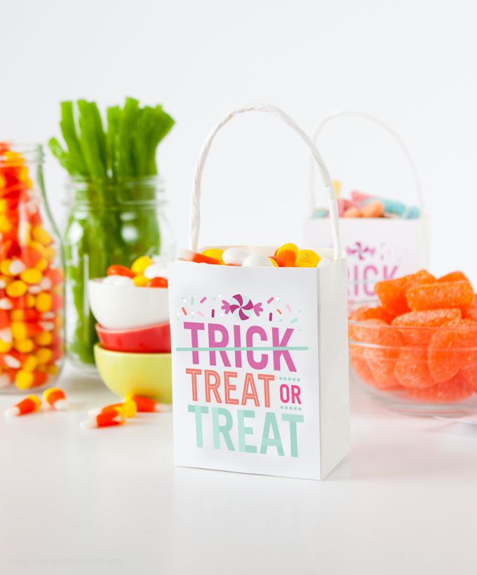 DIY Treat Or Treat Candy Bags