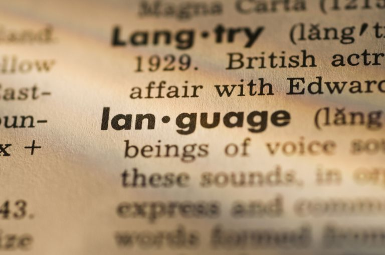 Definition of language in dictionary