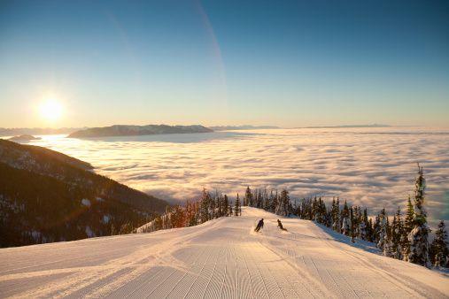 Skiing Couple Montana