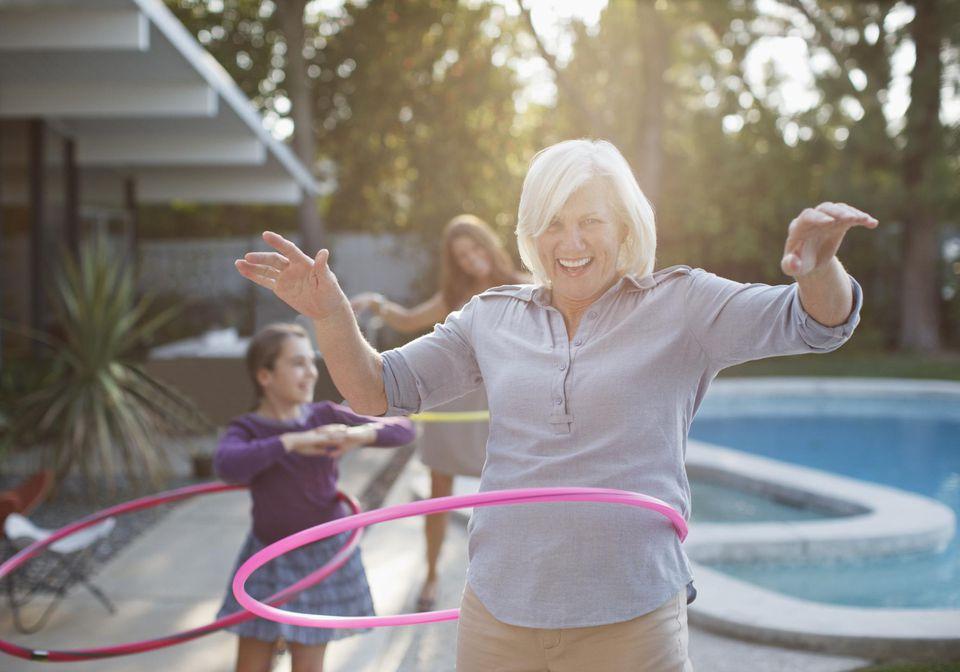 Grandmother with Hula Hoop