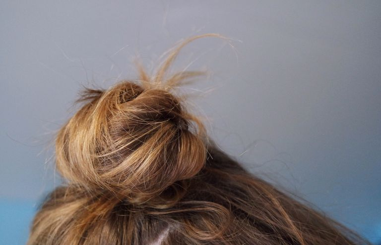 Close-Up Of Blond Hair Bun