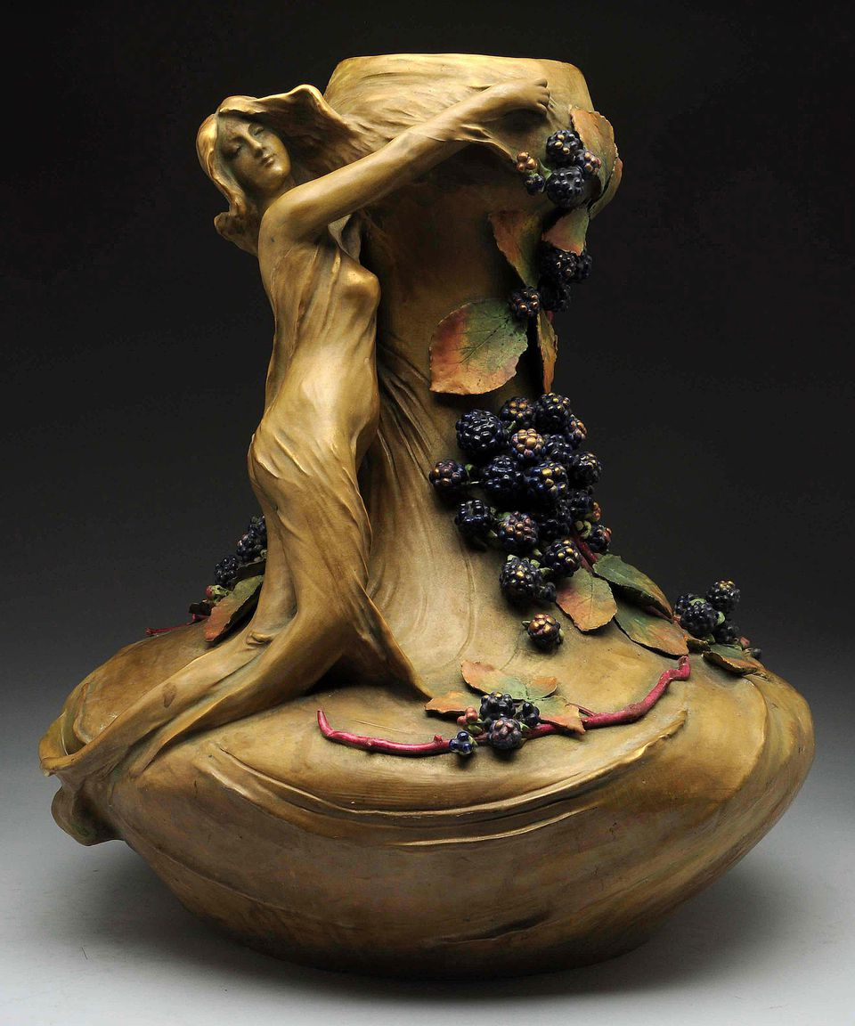 Amphora Vase with Nymph and Berries
