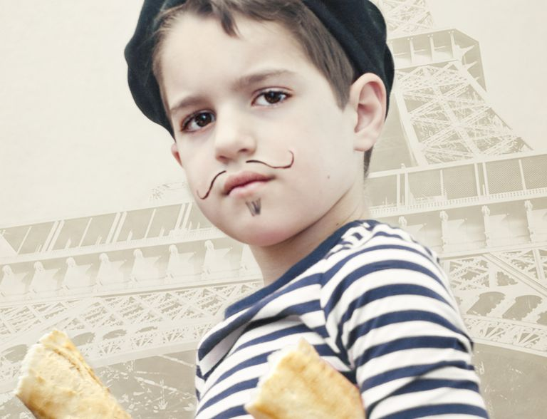 French Stereotype - Striped Shirt, Beret, Baguette
