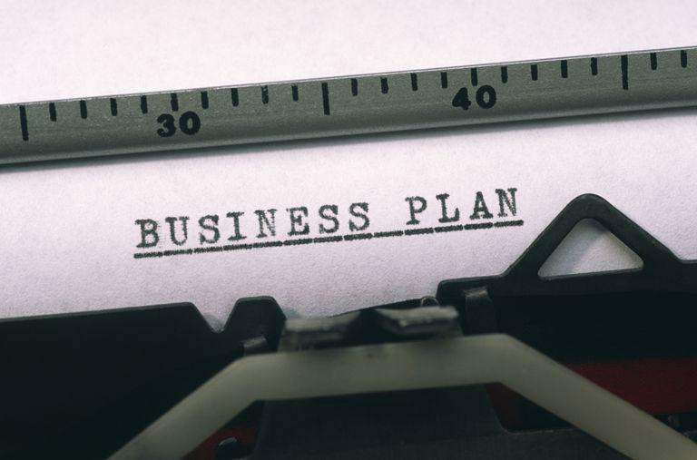 """""""Business Plan"""" typed on typewriter"""