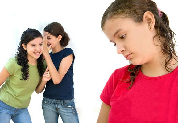 Girls usually bully by excluding others from social circles.