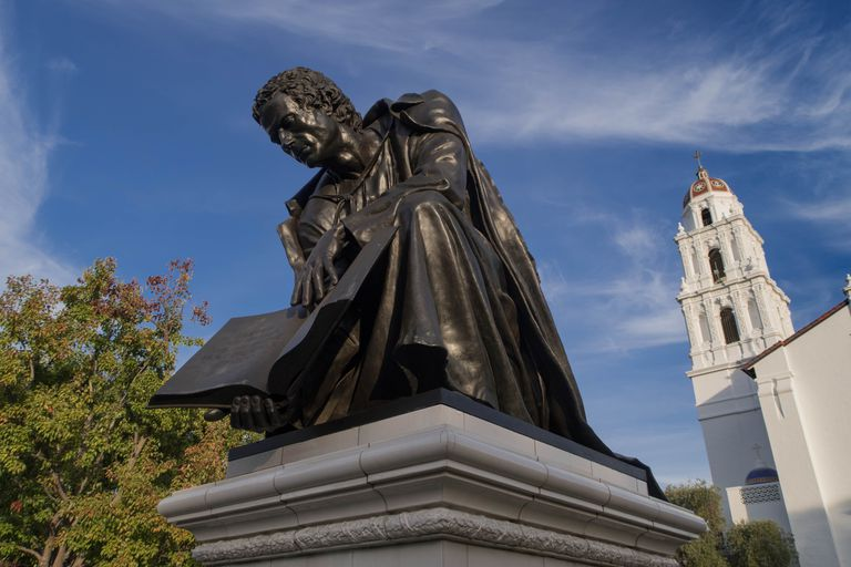 A statue at Saint Mary's College of California