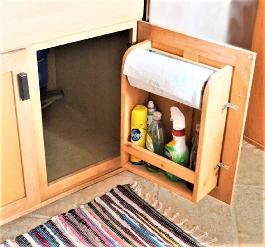 Kitchen Cabinet Door Organizer