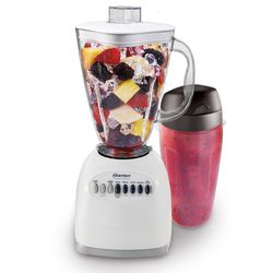 Oster 006640-BG3-000 Simple Blend 100 10 Speed Blender with Blend and Go Cup, White