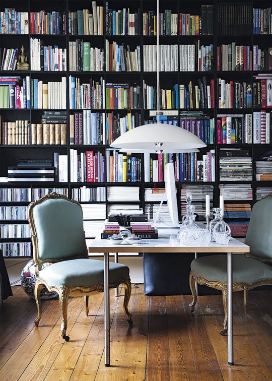 Contemporary Home Library Design: 11 Tips For Mixing Antique Accessories With Modern Decor