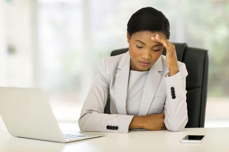 upset businesswoman
