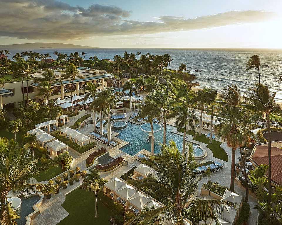 Wailea's highest-rated hotel is Four Seasons Maui