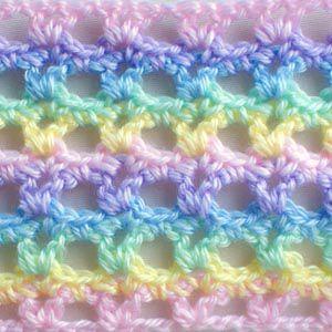 Pastel Lace Rainbow Pattern