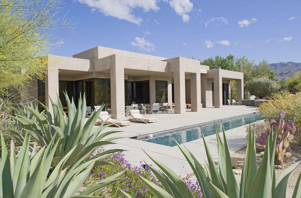lap pool in desert
