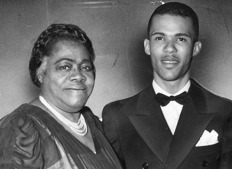Educator and civil rights activist Mary McLeod Bethune with her son.