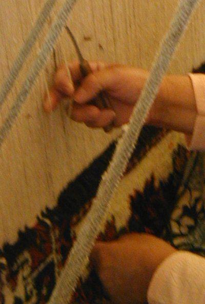 Woman weaving, from the 2002 Smithsonian Folk Festival