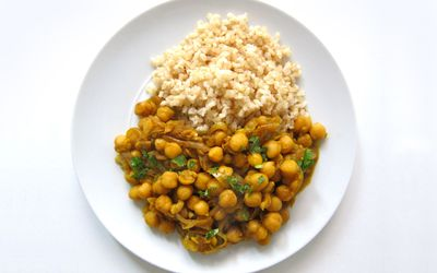 Trinidad Style Curried Channa Recipe
