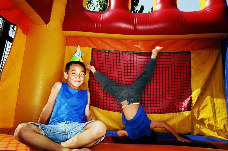 Non-competitive games and activities - bounce house