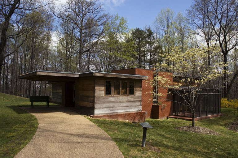 Entrance to Pope-Leighey House, 1940 Usonian design by Frank Lloyd Wright in northern Virginia
