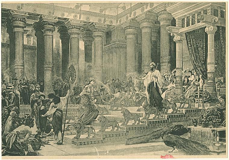 Solomon With His Women Meets the Queen of Sheba